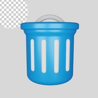 Icône de corbeille 3d