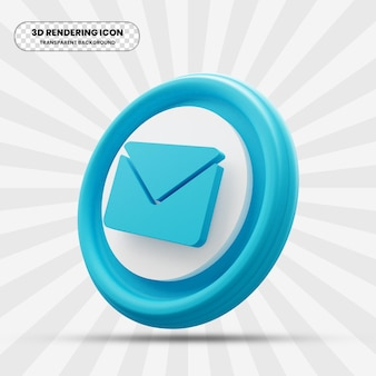Icône de courrier électronique dans le rendu 3d