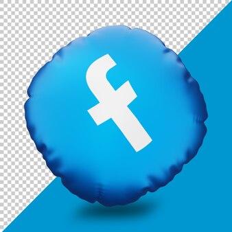 Icône de coussin de rendu 3d facebook