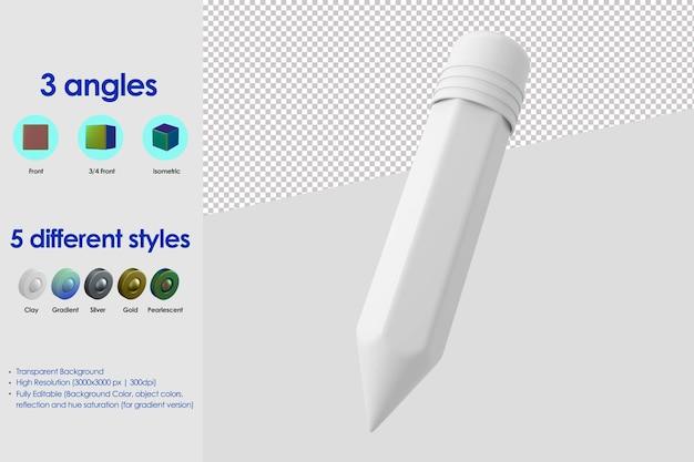 Icône de crayon 3d