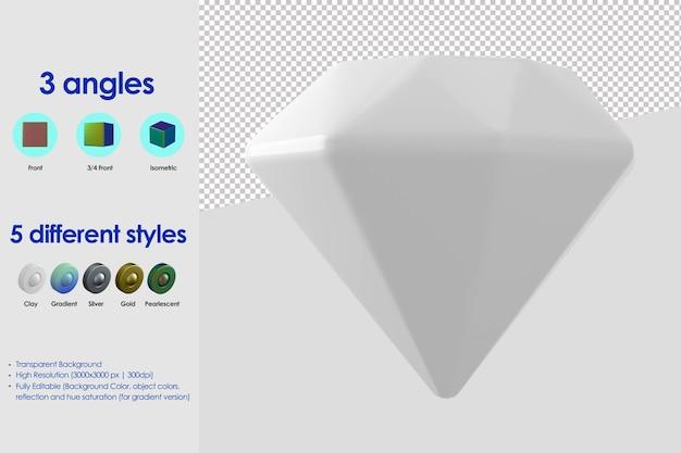 Icône de diamant 3d