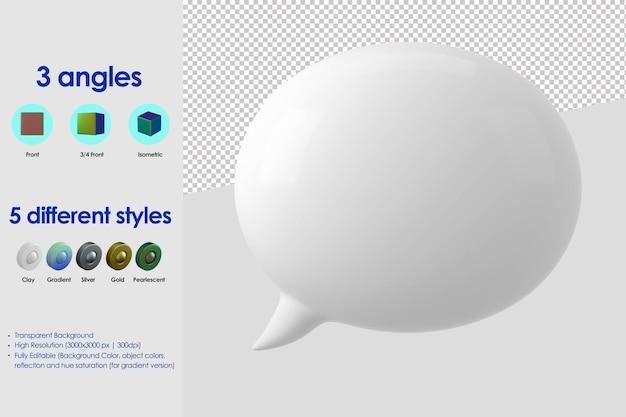 Icône de discours de bulle 3d