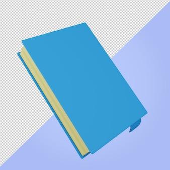 Icône de l'éducation livre bleu rendu 3d