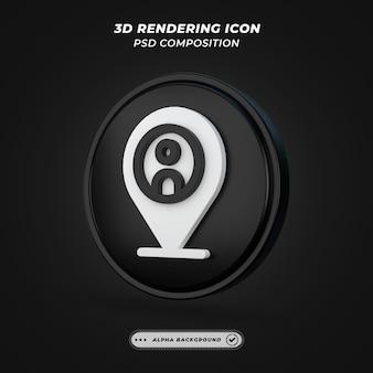 Icône d'emplacement et d'espace réservé dans le rendu 3d