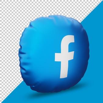 Icône facebook dans un oreiller 3d