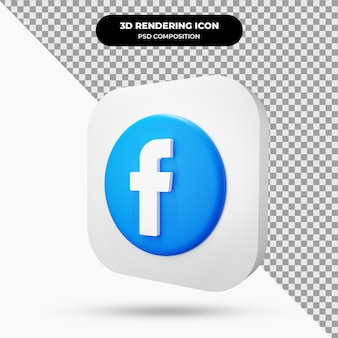 Icône de facebook objet 3d