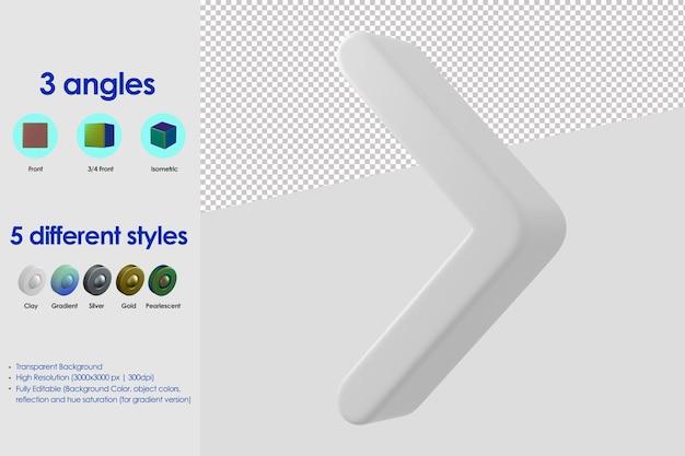 Icône de flèche droite 3d