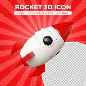 Icône de fusée 3d