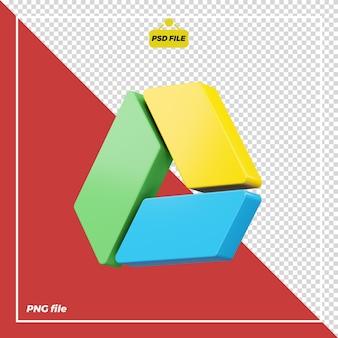 Icône google drive 3d