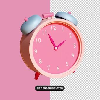 Icône d'horloge 3d isolée