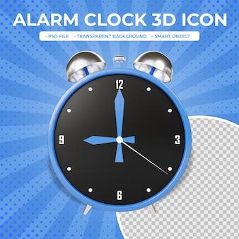 Icône d'horloge de rendu 3d