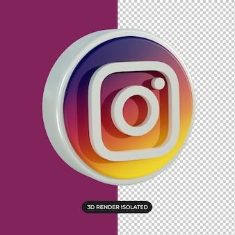 Icône instagram 3d isolé
