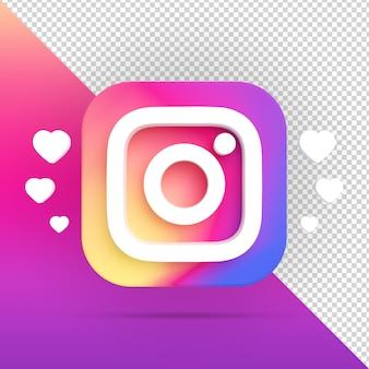 Icône instagram avec des chaleurs isolées