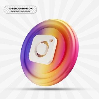 Icône instagram dans le rendu 3d