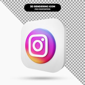Icône d'instagram objet 3d
