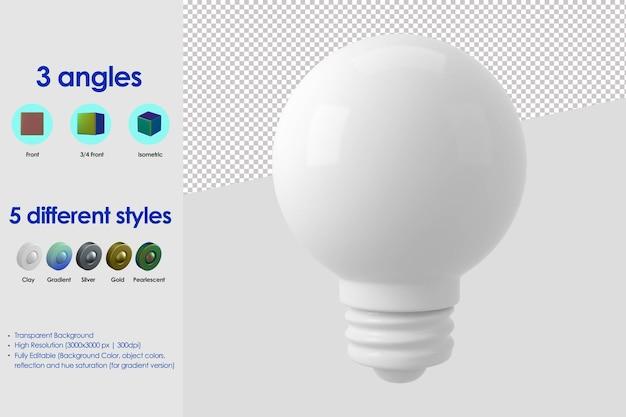 Icône de lampe 3d