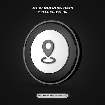 Icône de lieu ou d'emplacement dans le rendu 3d