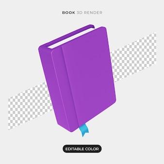 Icône de livre 3d isolé