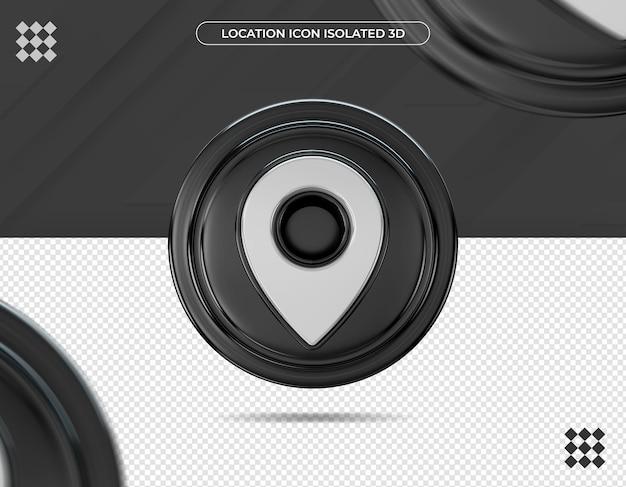 Icône de localisation 3d isolée