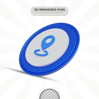 Icône de localisation de rendu 3d
