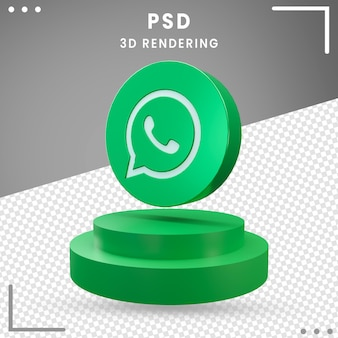 Icône logo rotation verte 3d rendu conception whatsapp isolé