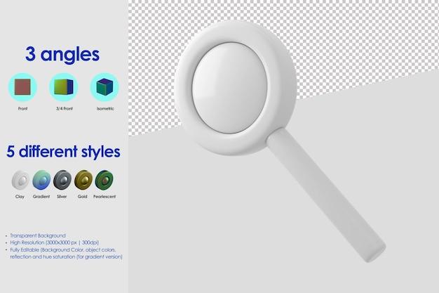 Icône de loupe 3d
