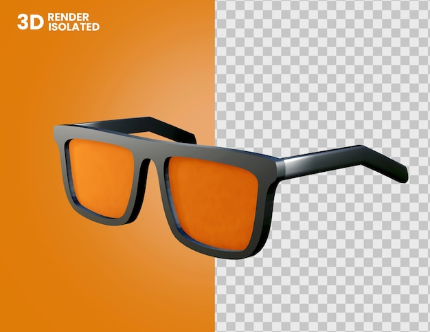 Icône de lunettes 3d isolée