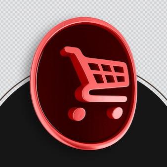 Icône de magasinage rendu 3d