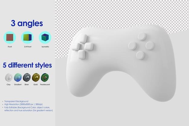 Icône de manette de jeu 3d