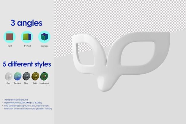 Icône de masque 3d