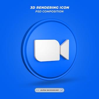Icône de médias sociaux messenger rendu 3d