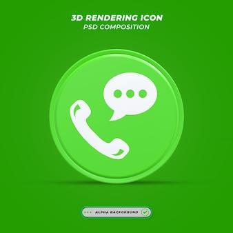Icône de message dans le rendu 3d