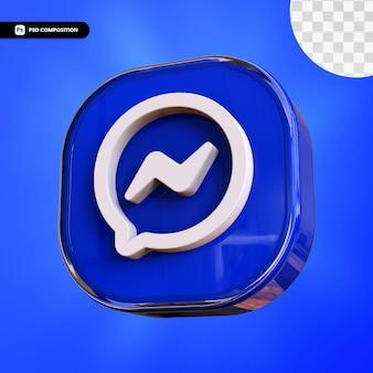 Icône de messager 3d isolé