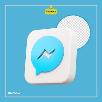 Icône de messager 3d