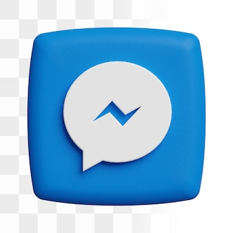 Icône de messagerie facebook 3d