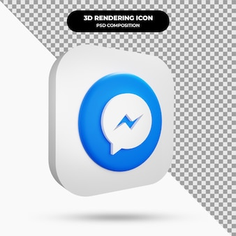 Icône de messenger object 3d