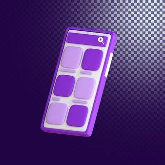 Icône mobile de haute qualité rendu 3d isolé
