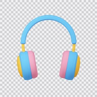Icône de montre casque isolé sur blanc image de rendu 3d
