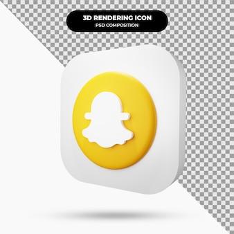 Icône de l'objet 3d de snapchat