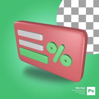 L'icône de l'objet de rendu 3d cartes rouges avec diverses cartes de crédit