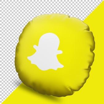 Icône d'oreiller de rendu 3d snapchat