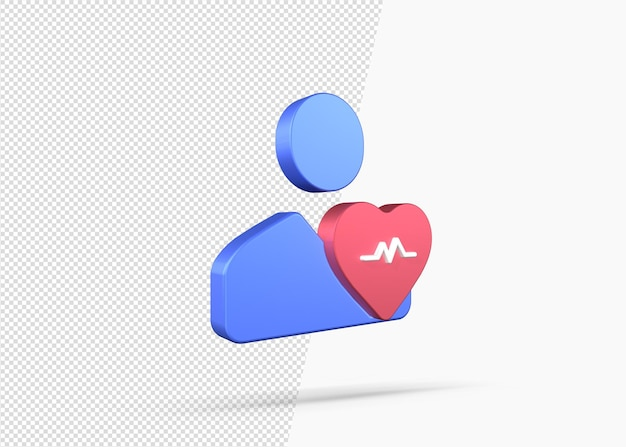 Icône de prévention des maladies avec rendu 3d
