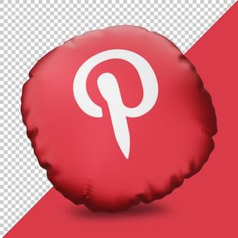 Icône de rendu 3d instagram avec oreiller
