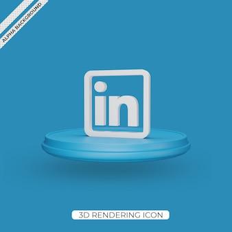 Icône de rendu 3d linkedin