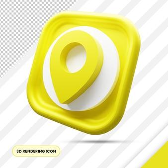 Icône de rendu 3d de localisation