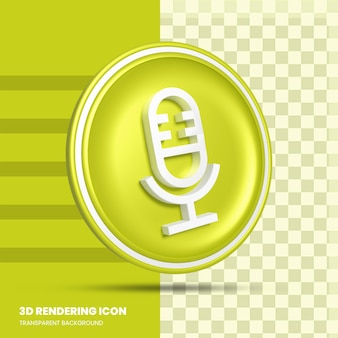 Icône de rendu 3d microphone
