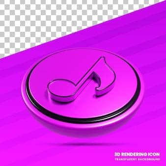 Icône de rendu 3d de la musique