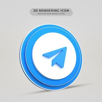 Icône de rendu 3d télégramme
