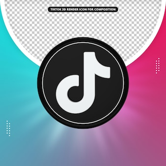 Icône de rendu 3d tiktok pour la composition