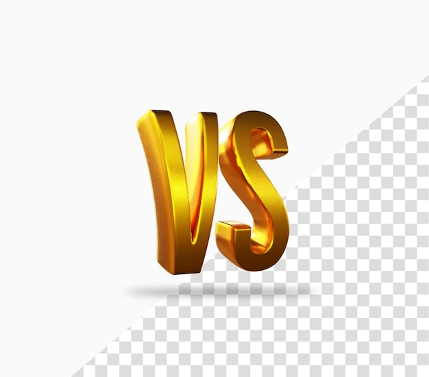 Icône de rendu 3d vs or